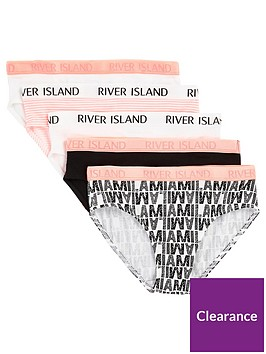 river-island-girls-pink-039miami039-print-briefs-multipack