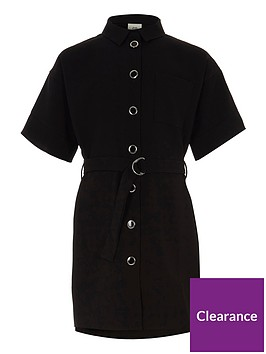 river-island-girls-black-belted-military-shirt-dress