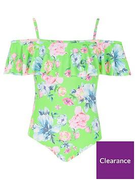 river-island-girls-green-floral-bardot-frill-swimsuit