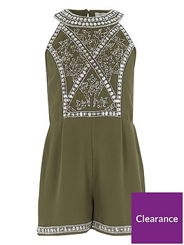 river-island-girls-khaki-green-embellished-playsuit