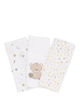 mothercare-3-pk-muslins--cuddle-me-bear