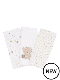 mothercare-mothercare-3-pk-muslins--cuddle-me-bear