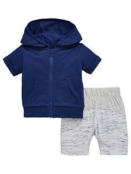 mini-v-by-very-baby-boys-short-sleeve-navy-zip-through-hoodienbspwith-contrast-shorts-bluegrey