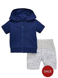 mini-v-by-very-baby-boys-short-sleeve-navy-zip-through-hoody-with-contrast-shorts