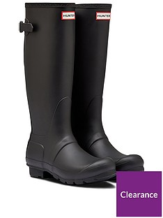hunter-original-back-adjustable-wellynbsp--black