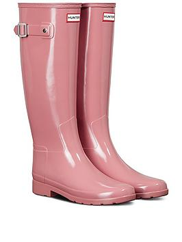 hunter-original-refined-glossy-welly-ndashnbsppink