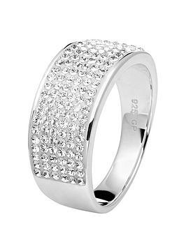 Evoke Evoke Evoke Sterling Silver Rhodium Plated Clear Swarovski Crystals  ... Picture