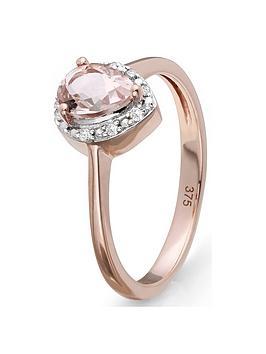 Love GEM Love Gem 9Ct Rose Gold Morganite And Diamond Ring Picture