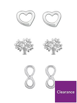 the-love-silver-collection-sterling-silver-open-heart-tree-of-life-and-infinity-earring-set