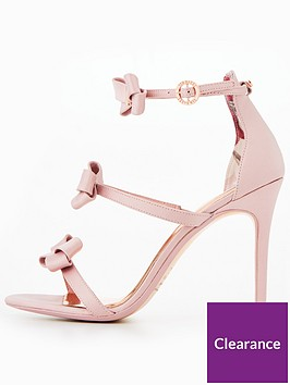 4117a362a0519 ... Ted Baker Nuscala Bow Heeled Sandal - Light Pink. View larger