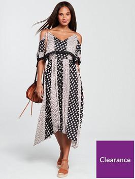 v-by-very-cold-shoulder-midi-dress-printed