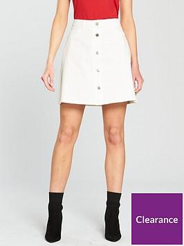 noisy-may-sunny-short-skater-skirt-white