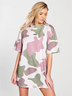 sik-silk-oversized-retro-camouflage-t-shirt-dress
