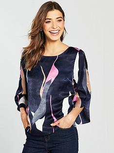 vero-moda-vero-moda-laksmi-printed-top-with-fluted-sleeves