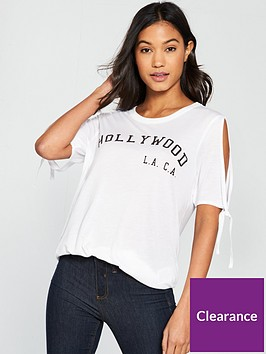 vero-moda-ferrah-tie-sleeve-slogan-top-bright-white