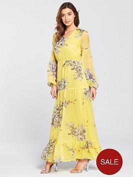 vero-moda-satina-long-sleeve-printed-maxi-dress
