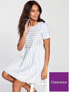 vero-moda-sunny-stripe-dress-bluewhite