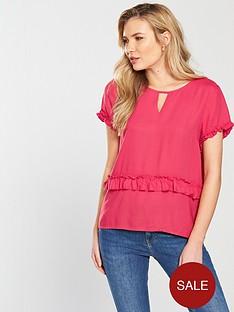 vero-moda-joanna-short-sleeve-ruffle-top-azalea