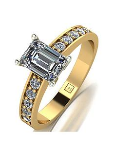 moissanite-moissanite-premier-collection-9ct-gold-135ct-total-emerald-cut-solitaire-ring