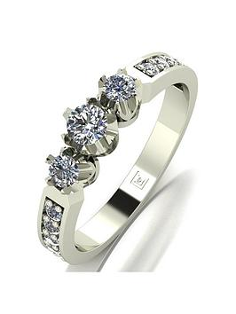 Love DIAMOND Love Diamond Lady Lynsey 9Ct White Gold 50Pts Total 3 Stone  ... Picture