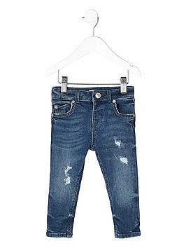 river-island-mini-boys-blue-distressed-sid-skinny-jeans