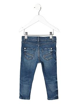 084895ab06b ... River Island Mini Mini boys distressed Sid skinny jeans - blue. View  larger