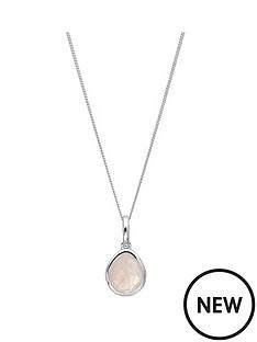 the-love-silver-collection-sterling-silver-organic-oval-rose-quartz-semi-precious-october-birthstone-pendant