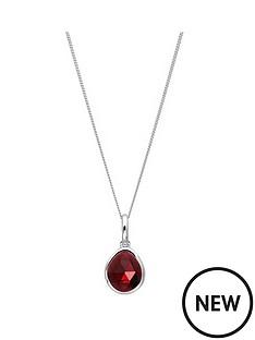 the-love-silver-collection-sterling-silver-garnet-semi-precious-january-birthstone-pendant