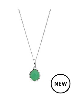 the-love-silver-collection-sterling-silver-chrysophase-chalcedony-semi-precious-may-birthstone-pendant
