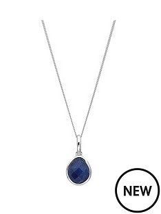 the-love-silver-collection-sterling-silver-organic-oval-lapis-september-birthstone-pendant