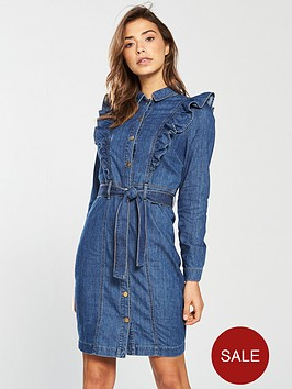 v-by-very-denim-button-through-frill-dress