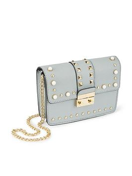 miss-selfridge-miss-selfridge-blue-elevated-stud-amp-pearl-crossbody-bag
