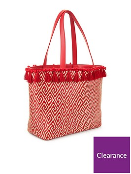 miss-selfridge-tassel-pop-tote-red