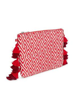miss-selfridge-tassel-edge-clutch-red