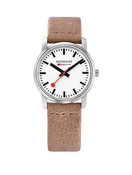 mondaine-simply-elegantnbsp36mm-stainless-steel-slim-case-white-dial-nude-leather-strap-ladies-watch