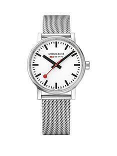 mondaine-evo2nbsp35mm-stainless-steel-case-white-dial-stainless-steel-mesh-bracelet-ladies-watch