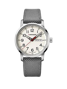 Wenger Wenger Attitude Heritage Day-Date Cream Dial 42Mm Stainless Steel  ... Picture
