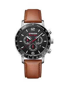 wenger-roadster-black-night-chronograph-dialnbsp45mm-stainless-steel-case-and-brown-leather-strap-mensnbspwatch