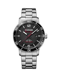 wenger-roadster-black-nightnbspblack-dialnbsp45mm-stainless-steel-case-and-bracelet-mensnbspwatch