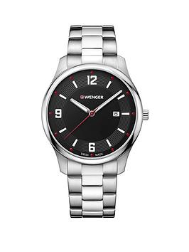 wenger-city-active-black-dialnbsp43mm-stainless-steel-case-and-bracelet-unisex-watch