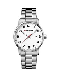 wenger-avenue-white-dialnbsp42mm-stainless-steel-case-and-bracelet-unisex-watch