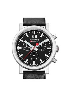 mondaine-evo-chronograph-mens-watch-with-large-date-40mm-stainless-steel-case-black-dial-black-leather-strap