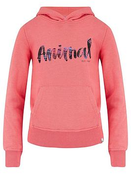 animal-girls-sunkissed-orange-marl-hoodie
