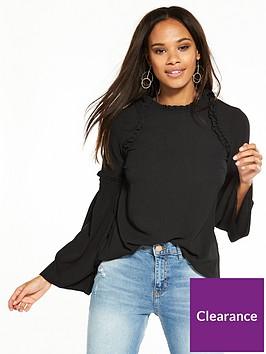 river-island-long-sleeve-blouse--black