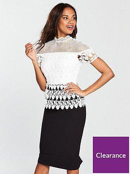 v-by-very-premium-lace-pencil-dress-blackwhite
