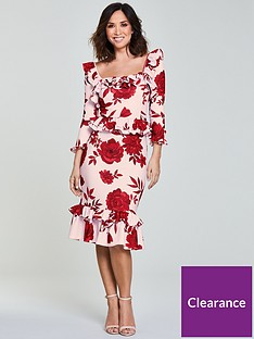 myleene-klass-frill-pencil-dress-printnbsp