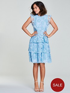 myleene-klass-lace-tiered-dress-bluenbsp