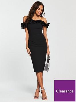 v-by-very-3d-floral-bardot-bodycon-dress-black