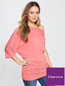 v-by-very-asymmetricnbspjersey-top-coral