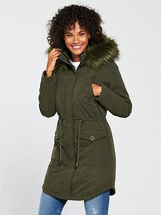 v-by-very-fauxnbspfur-padded-parka-green